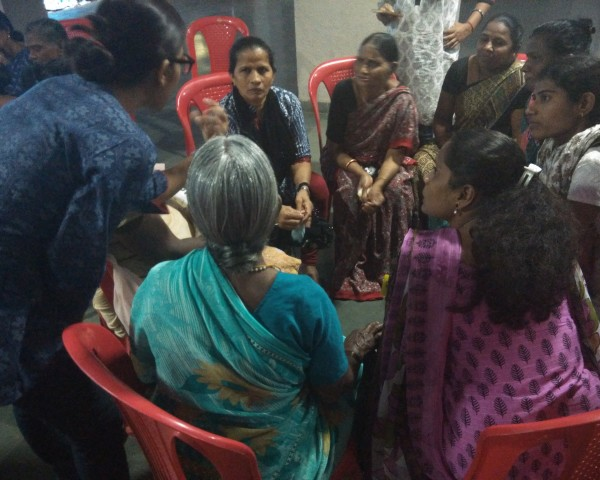 Group discussion on setting up SHGs and the challenges facing them