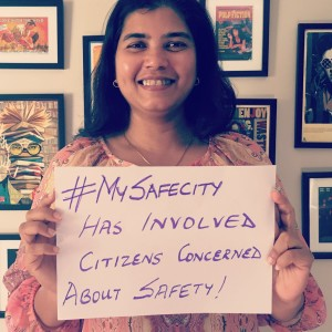 Our Co-Founder & Managing Director, Elsa Marie D'silva's safe city has involved citizens who are concerned about safety.
