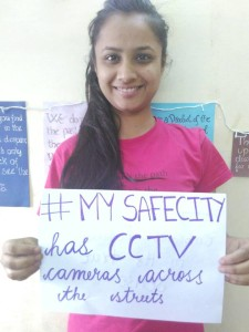 Radha's safe city has CCTV Cameras on all streets.