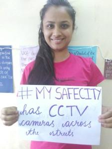 Radha's safe city has CCTV Cameras on all streets.