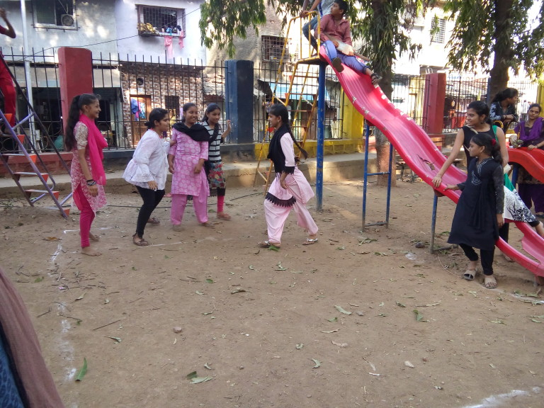 Saba during a Kabaddi game - reclaiming a Public Space.