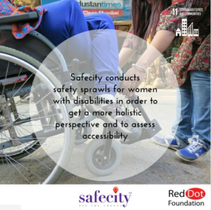 Safecity has conducted Safety Sprawls with women with disabilities in collaboration with Point of View.