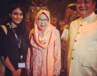With the mayor of Surabaya ms. Reshma